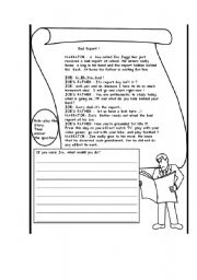 English Worksheets: Joe�s Situation