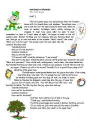 English Worksheets: Satchkin Patchkin (2nd part )