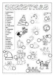 christmas worksheet - ESL worksheet by INETA