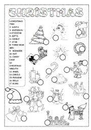 christmas worksheet esl worksheet by ineta. Black Bedroom Furniture Sets. Home Design Ideas