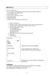English Worksheets: Proposal writing