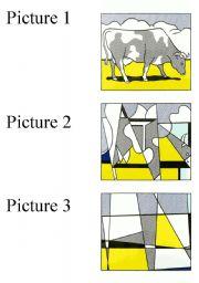 English Worksheet: Discussion Activity - Abstract Art - Roy Lichtenstein�s Cow