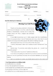 English Worksheets: Communication and Society - Test
