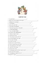 English Worksheets: QUESTION-TAGS