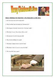 English Worksheet: Merry Christmas Mr. Bean