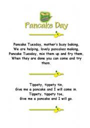 English Worksheet: Pancake Poems