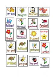 English Worksheet: awards for you students!