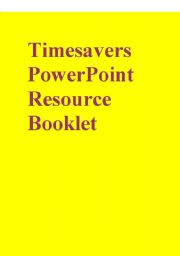 English Worksheet: Timesavers PowerPoint Resouce Booklet part 1