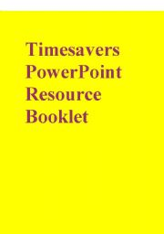 English Worksheet: Timesavers PowerPoint Resource Booklet part 2