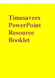 English Worksheet: Timesavers PowerPoint Resource Booklet part 3