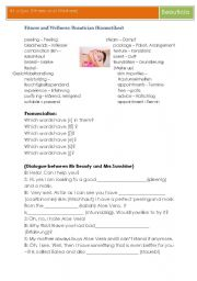 English Worksheet: Fitness and Wellness (English for Spa and Gym): Beautician
