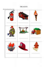 English Worksheets: fire safety
