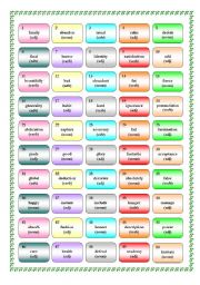 English Worksheets: Word formation Game 3
