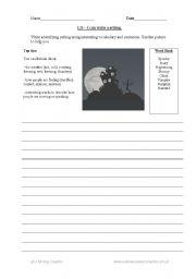 English Worksheets: Writing a setting