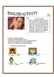 English Worksheets: Text about Gisele Bundchen