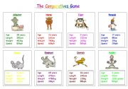 English Worksheet: The Comparatives Game