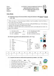 exam for 5-6th graders