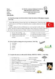 exam sample for 6-7th graders