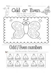 worksheet: Odd and Even