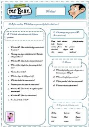English Worksheets: Mr. Bean - WS for