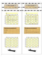 English Worksheet: English begginers battleship