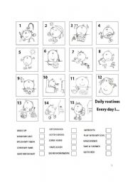 English Worksheets: Every day I...