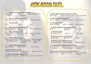 English Worksheets: New moon movie quiz