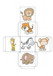 English Worksheet: ANIMAL dices