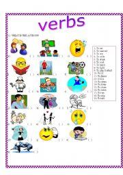English worksheet: Verbs