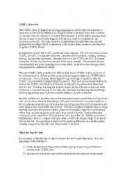 English Worksheets: guide to teaching toefl