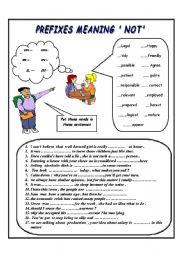 Prefix Sort - mis, non and un - Sorting Worksheet   Prefixes ...