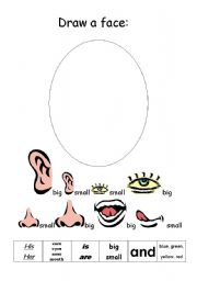 English Worksheets: Draw a face