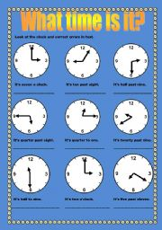 English Worksheets: Time errors