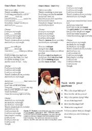 English Worksheet: Guns´n´Roses - Don´t Cry