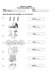 English Worksheets: One and Many
