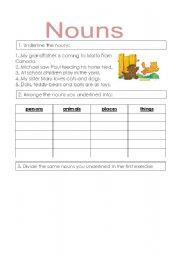 English Worksheets: nouns exercises