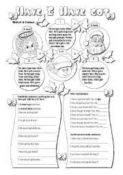English Worksheet: Have & Have got