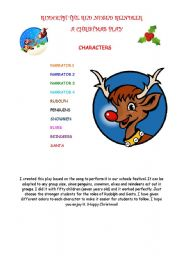 A CHRISTMAS PLAY: RUDOLPH THE RED NOSED REINDEER