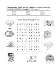 weather puzzle esl worksheet by. Black Bedroom Furniture Sets. Home Design Ideas