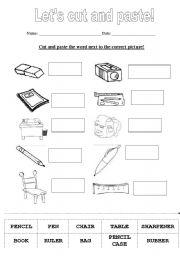 Let´s cut and paste! - ESL worksheet by sanoliveira