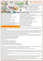 English Worksheets: The accident (2)