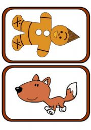 The Gingerbread Man flashcards