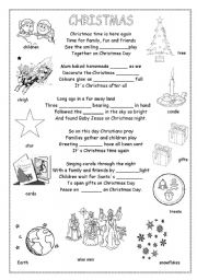 English Worksheets: Christmas poem