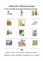 School Staff + activities