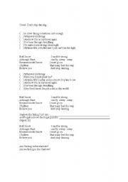 English Worksheets: Creed- Dont stop dancing
