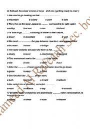 English Worksheets: Tenth Grade WorkSheet