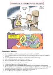 HANDY THEMATIC COLLECTION of cartoons, vocabulary, conversation questions and essay topics Part 1 - THE FAMILY