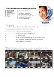 English Worksheets: Worksheet on the film Click