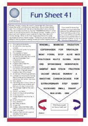 English Worksheets: Fun Sheet 41