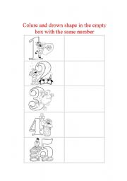 English worksheet: number- counting